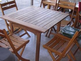 Mesas de madera para exterior en incienso guatambu acacia - Mesas de madera plegables para exterior ...