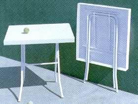 Mesas de resina circulares redondas u octogonales for Mesa plegable plastico